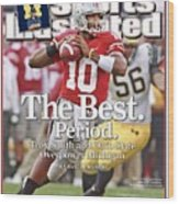 Ohio State Qb Troy Smith... Sports Illustrated Cover Wood Print
