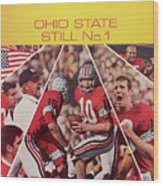 Ohio State Still No. 1 Sports Illustrated Cover Wood Print