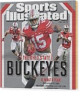 Ohio State University 2014 Ncaa National Champions Sports Illustrated Cover Wood Print