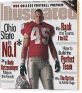 Ohio State University Andy Katzenmoyer, 1998 College Sports Illustrated Cover Wood Print