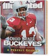 Ohio State University Maurice Clarett, 2002 Ncaa Perfect Sports Illustrated Cover Wood Print
