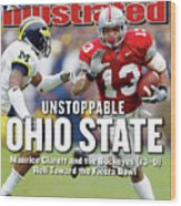 Ohio State University Maurice Clarett Sports Illustrated Cover Wood Print