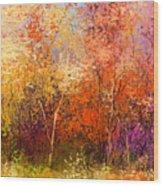 Oil Painting Landscape - Colorful Wood Print