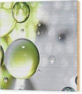Oil Spheres Wood Print