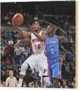 Oklahoma City Thunder V Detroit Pistons Wood Print