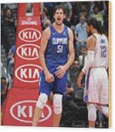 Oklahoma City Thunder V La Clippers Wood Print