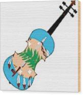 Oklahoma State Fiddle Wood Print
