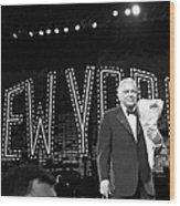 Ol Blue Eyes Frank Sinatra Clutches Wood Print