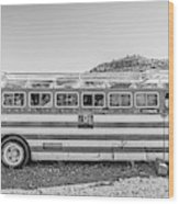 Old Abandoned Vintage Bus Jerome Arizona Wood Print