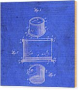 Old Ant Trap Vintage Patent Blueprint Wood Print