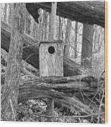 Old Birdhouse Wood Print