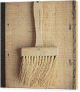 Old Bristle Brush Wood Print