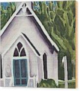Old Church Copake Falls Wood Print