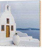 Old Church In Santorini Island, Greece Wood Print