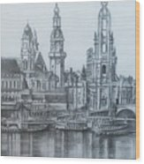 Old City Of Dresden- Dresden Wood Print
