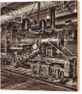 Old Climax Engine No 4 Wood Print