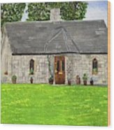 Old Columba's Church Rectory Wood Print