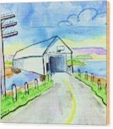Old Covered Bridge - Avonport N.s. Wood Print