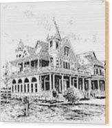 Old Daly Mansion Hamilton Montana Wood Print