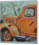 Old Dodge Truck At Patterson Farms Wood Print