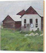 Old Farm Buildings Wood Print