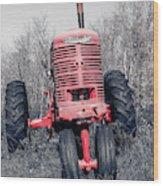 Old Farmall Farm Tractor Color Separation Nh Wood Print