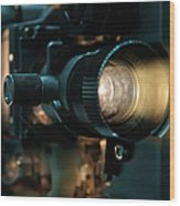 Old Fashioned Film Projector Wood Print