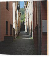 old historic lane in Cochem Germany Wood Print