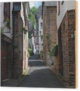 old historic street in Ediger Germany Wood Print