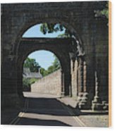 old historic town gate in Hexham Wood Print