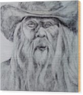 Old Man In A Hat  Wood Print