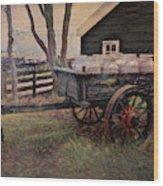 Old Milk Wagon Wood Print