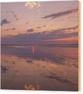 Old Orchard Beach Glorious Sunset Wood Print