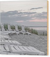 Old Orchard Beach Tranquil Morning Wood Print