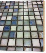 Old Tiles Background Wood Print
