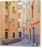 Old Town Of Nice, French Riviera, France Wood Print