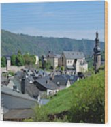 old town walls and church and buildings of Cochem Wood Print
