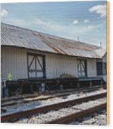 Old Train Depot In Gray, Georgia 2 Wood Print
