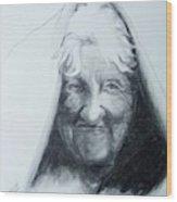 Old Woman Wood Print