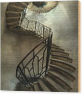 An Old Staircase Wood Print
