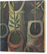 On Polia's Table Wood Print