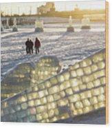 On The Ice Wood Print