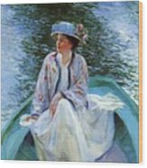 On The River Edge 1910 Wood Print
