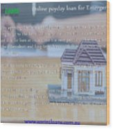 Online Payday Loans Wood Print