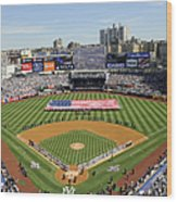Opening Day Yankee Stadium. New York Wood Print
