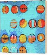 Orange Dots Wood Print