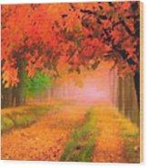 Orange Fall Wood Print