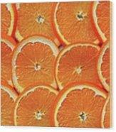 Orange Fruit Slices Wood Print