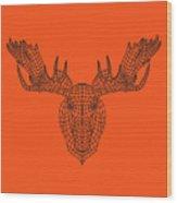 Orange Moose Wood Print