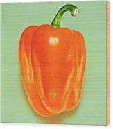 Orange Pepper Wood Print